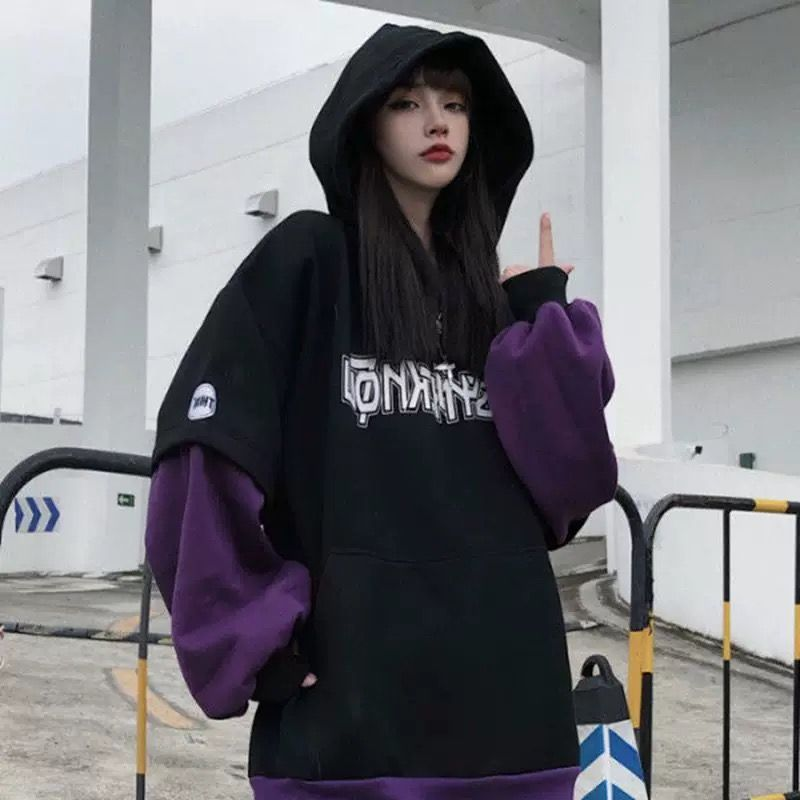 Large Letter Printed Loose Women S Hoodie Casual Pullover In 2021 Tomboy Style Outfits Edgy Outfits Fashion
