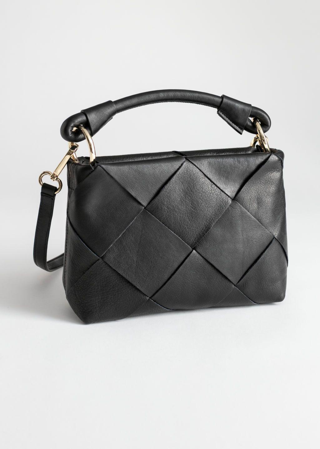 Grain Leather Hobo Bag Burgundy Shoulderbags Other Stories Leather Hobo Handbags Leather Crossbody Bag Shoulder Bag