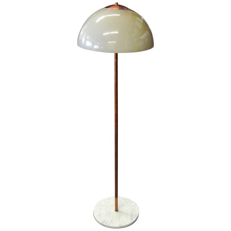 Italian stilnovo style murano glass marble and copper floor lamp italian stilnovo style murano glass marble and copper floor lamp mozeypictures Images