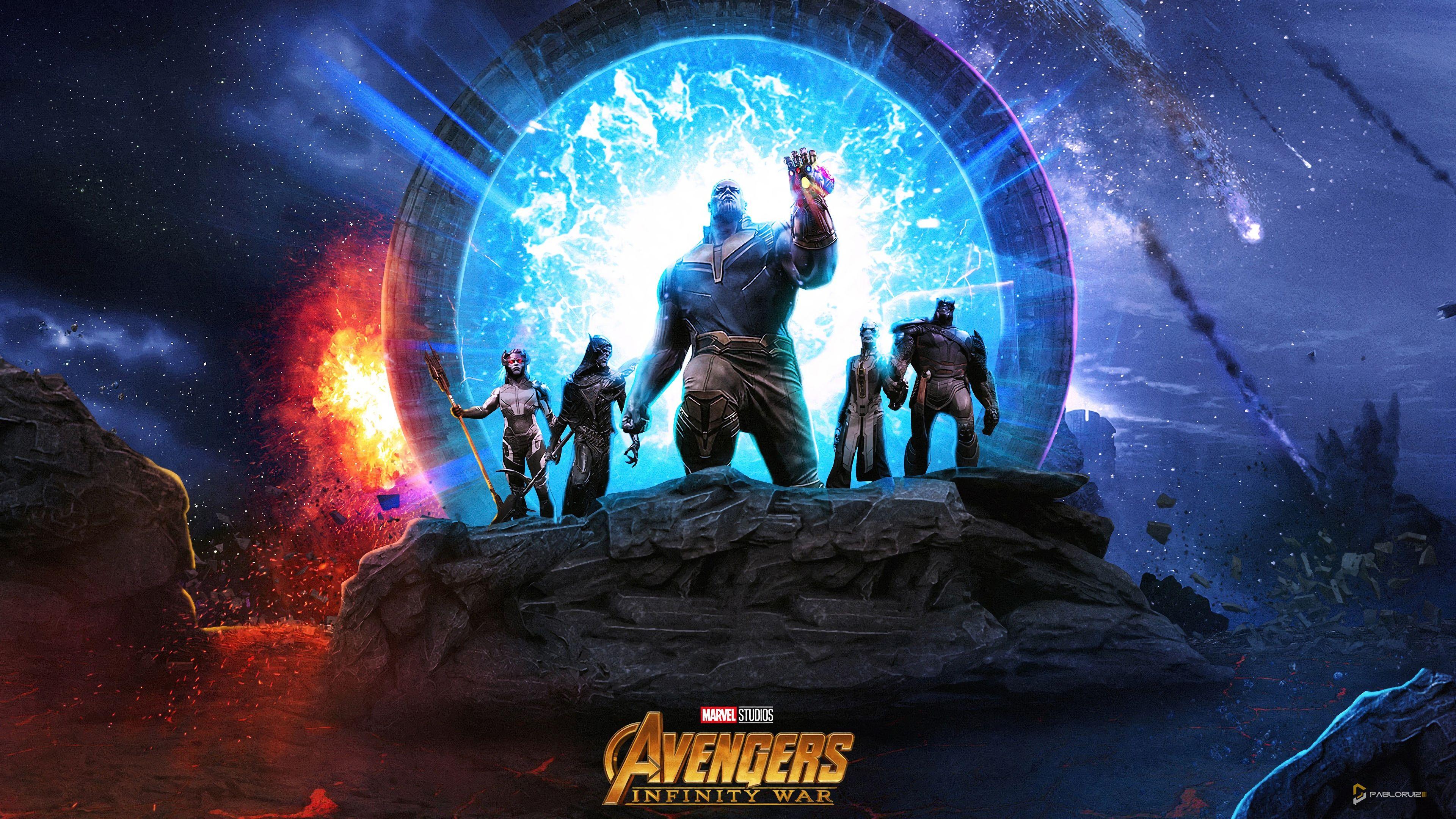 Thanos The Black Order Avengers Infinity War Movie 2018 3840x2160 Wallpaper Thug Life Wallpaper Avengers Wallpaper Avengers