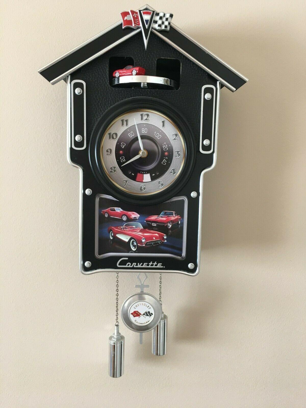 The Bradford Exchange Limited Edition Corvette Cuckoo Clock Still In The Box In 2020 Cuckoo Clock Clock Antique Radio