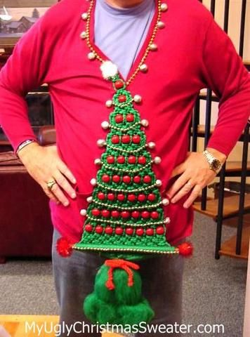 contest winning diy christmas sweater incredible macrame tree decorations easy to make and fun - Diy Christmas Sweater