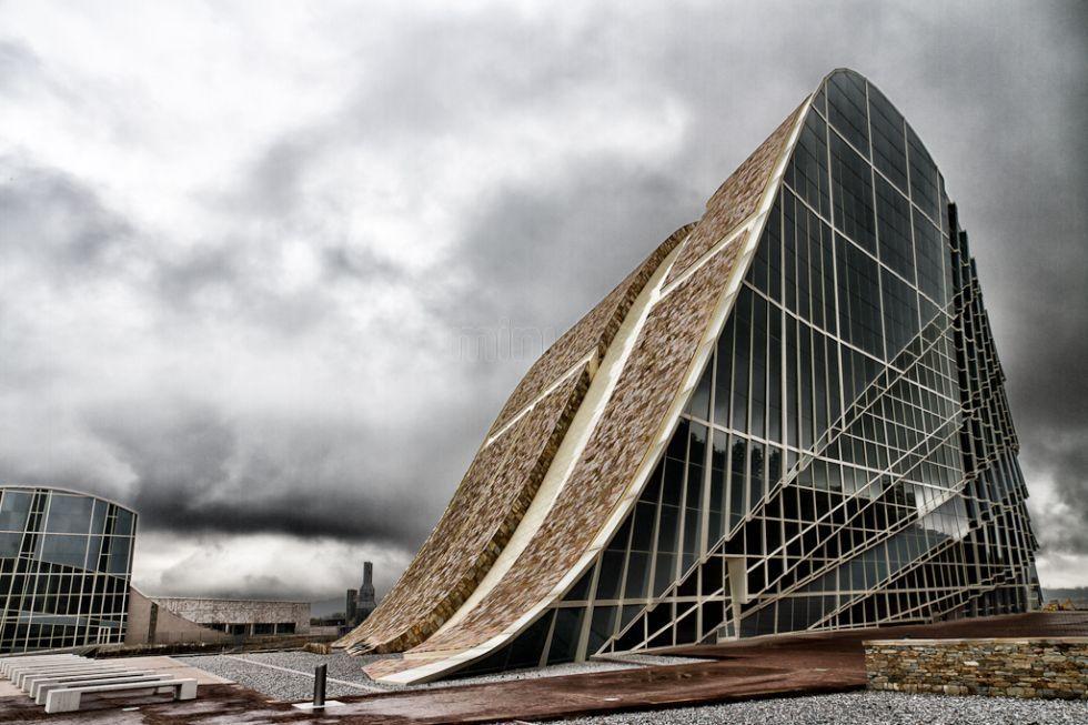 Peter Eisenman Designed The Ciudad De La Cultura En Santiago De Compostela Galicia Spain Museos Ciudades Museos De España