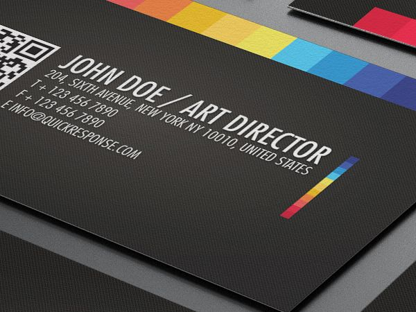 Quick Response Business Card Design Lemon Graphic Singapore