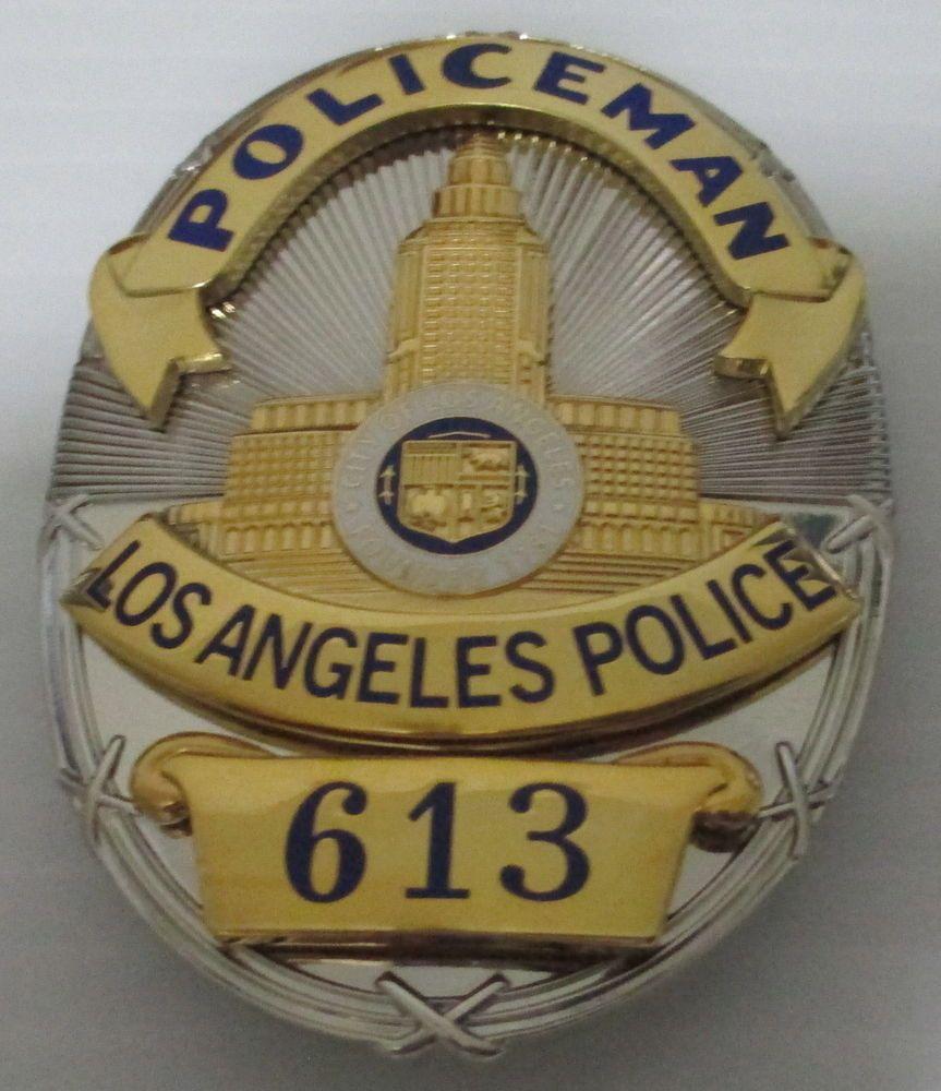 obsolete los angeles police frank smith movie u0026 tv prop badge made