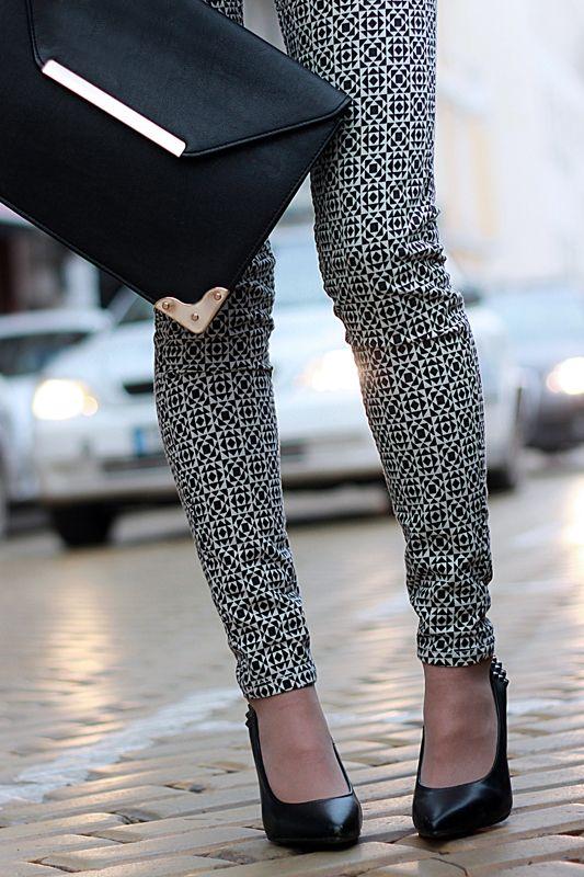 printed pant...dig them and the bag