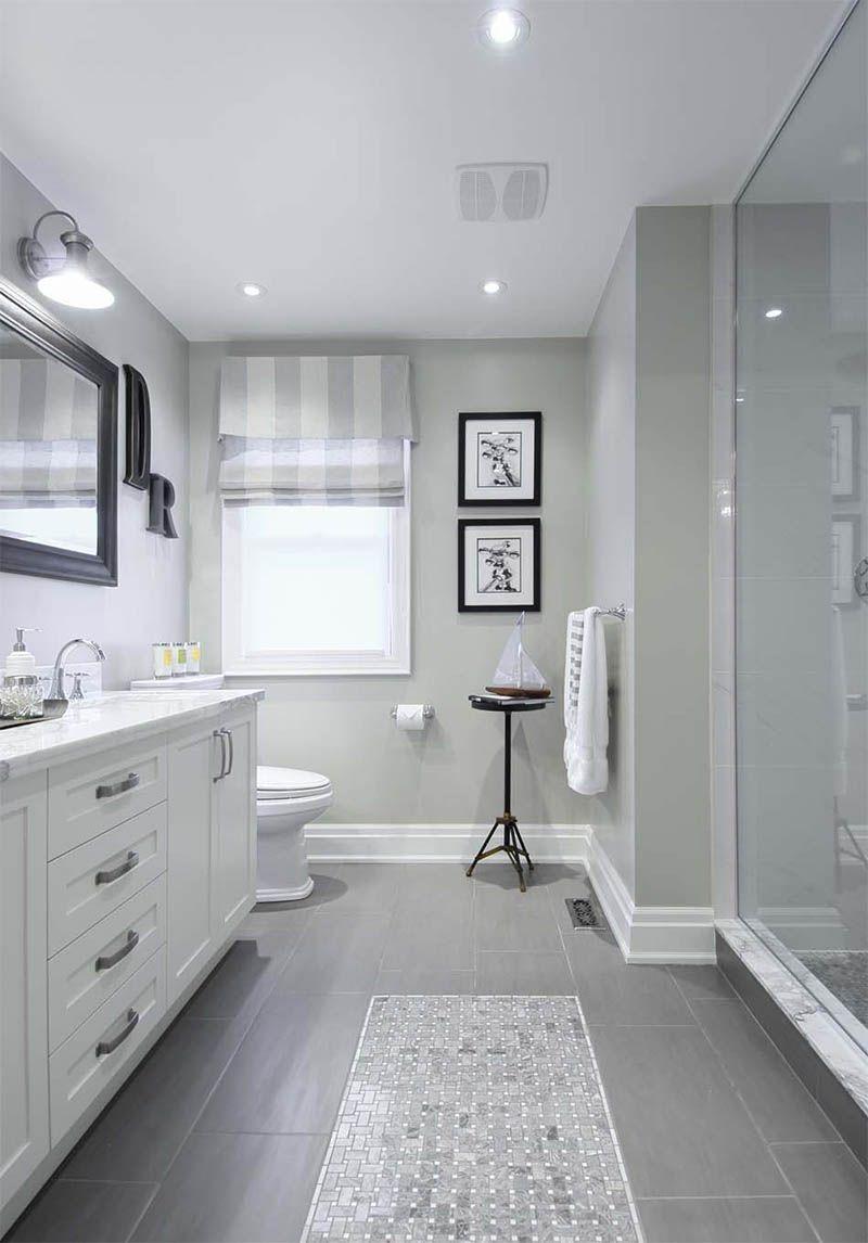 gray tile floor bathroom ile ilgili görsel sonucu   EV DEKORASYONU ...