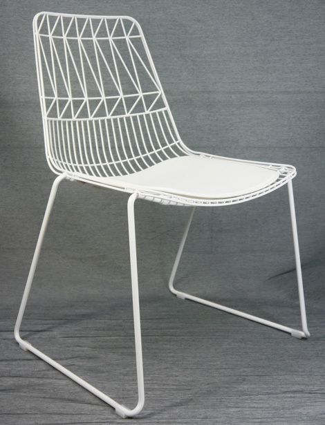 stackable metal patio chairs lazy boy on sale net outdoor chair replica bend wire lucy dining white