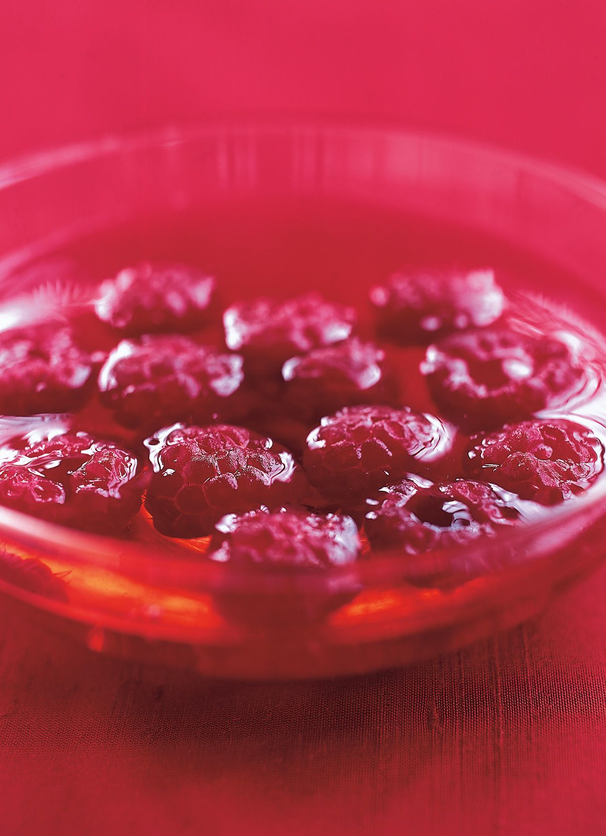 Ruby Red Raspberries In Chardonnay Jelly Recipe Nigella Recipes Raspberry