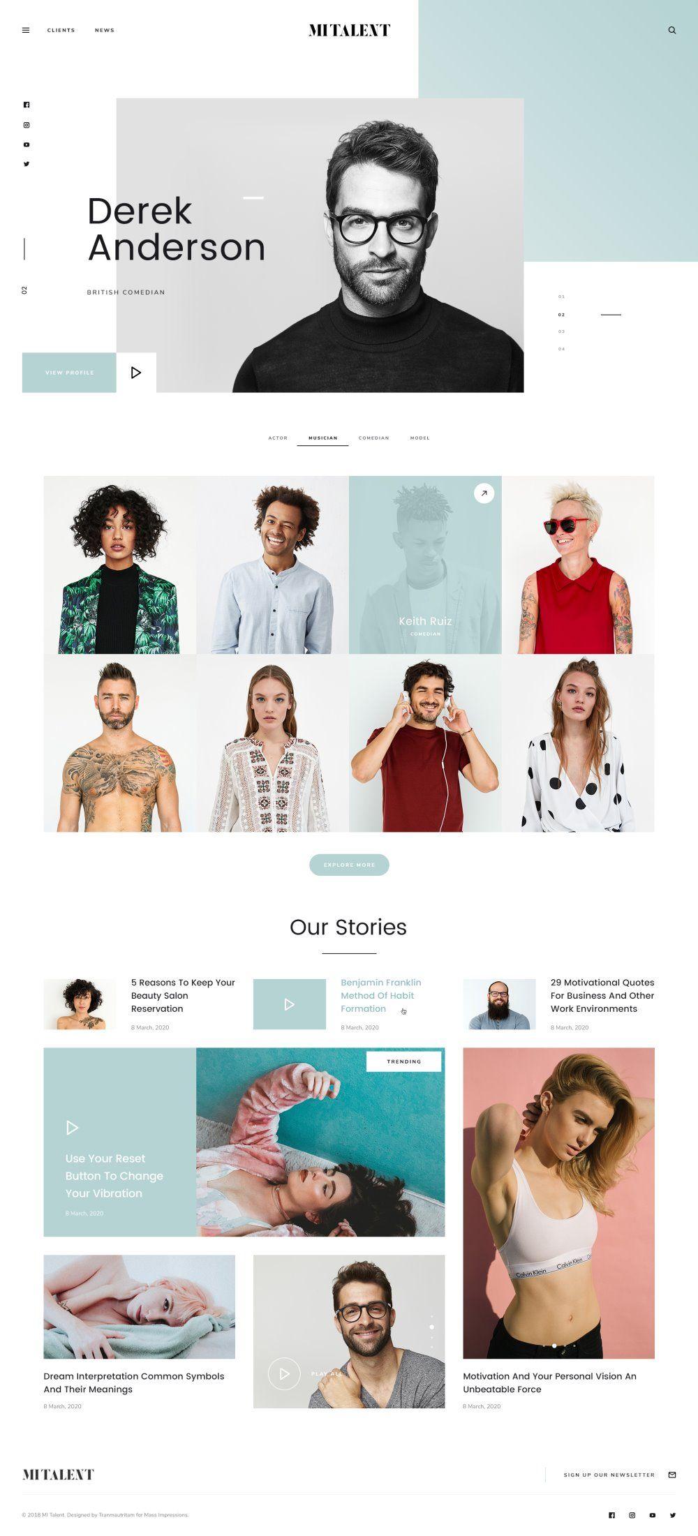 Mi Talent Free Website Template For Agencies Web Design