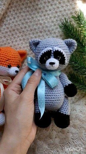 Crochet pattern raccoon, crocheted raccoon, amigurumi crochet pattern raccoon, amigurumi animals pattern, stuffed raccoon, forest animal - wool - #Amigurumi #Animal #Animals #Crochet #crocheted #forest #Pattern #Raccoon #stuffed #wool