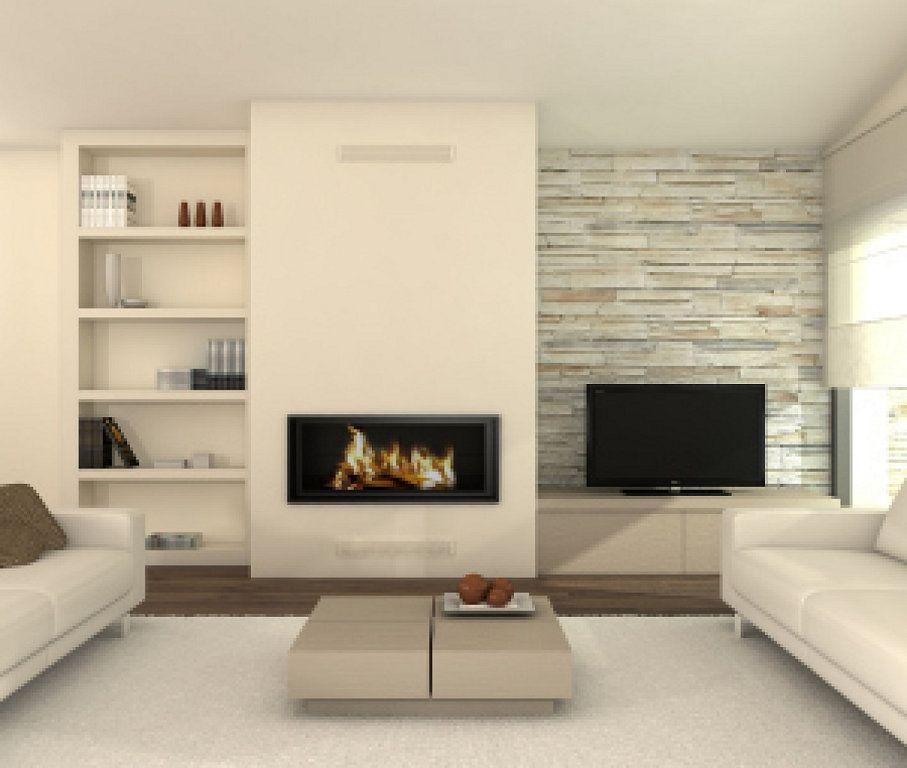 chimenea integrada pladur - Buscar con Google Basement Ideas - chimeneas modernas