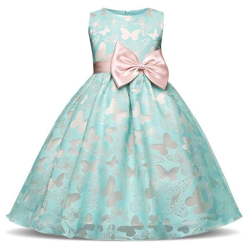 9a650d52635c Fairy Fancy Butterfly Girl Dress Flower Wedding Dress Girl Party ...