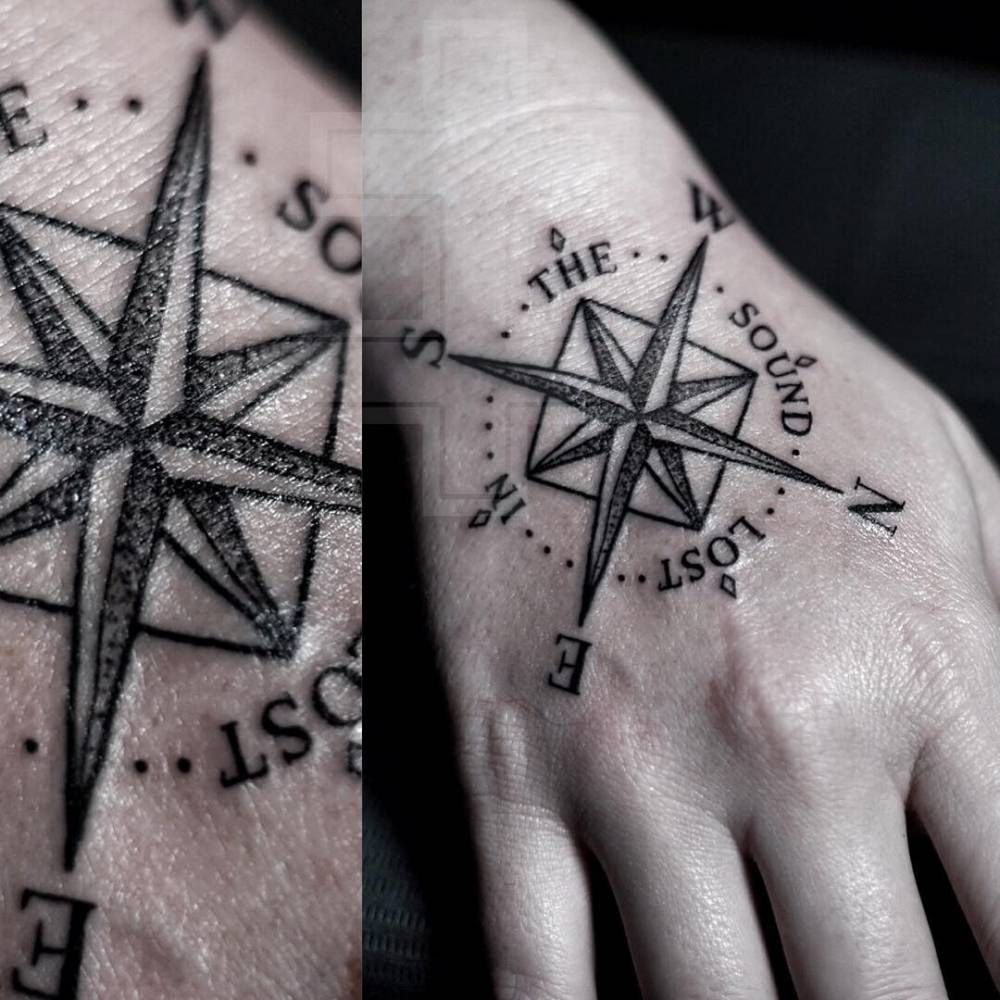 Compass Tattoo On The Right Hand Compass Tattoo Simple Compass Tattoo Tattoo Quotes