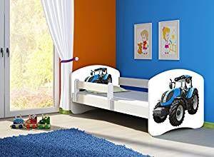Traktorbett Kinderbett Komplett Set 160 X 80 Cm Inkl Matratze