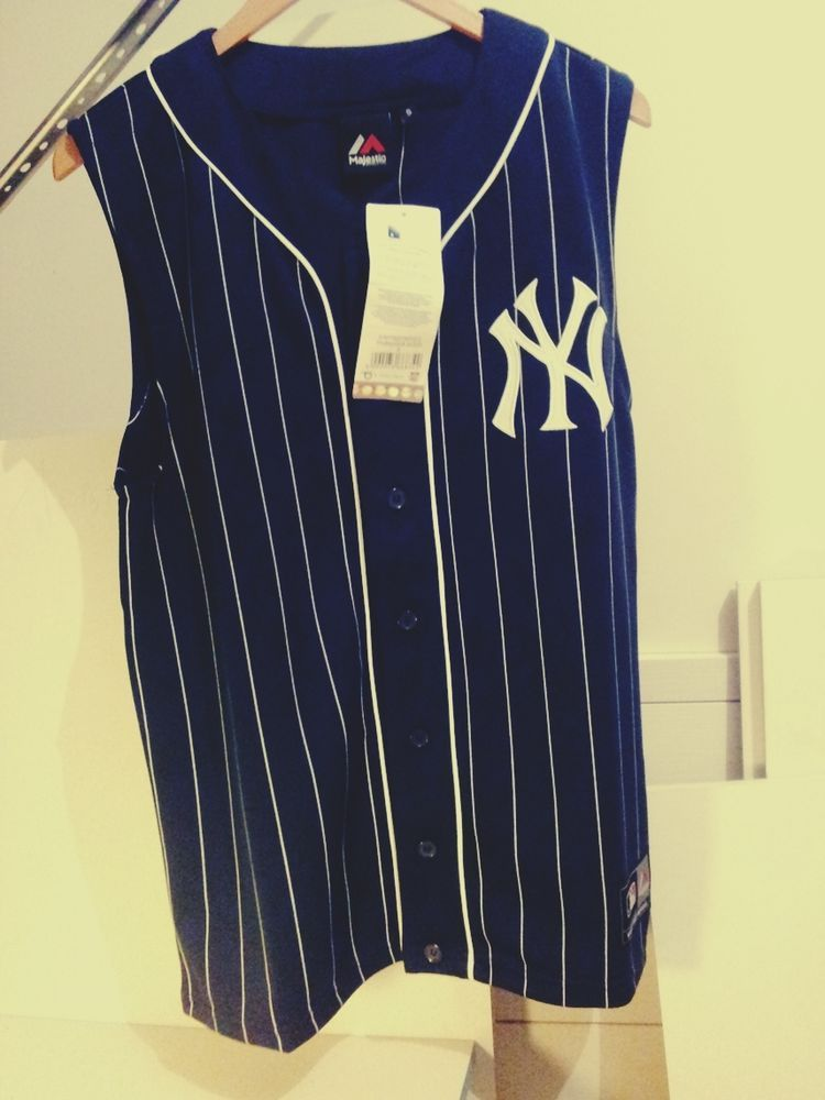Details about Majestic New York Yankees Baseball Sleeveless Jersey ... a59cd405cd6