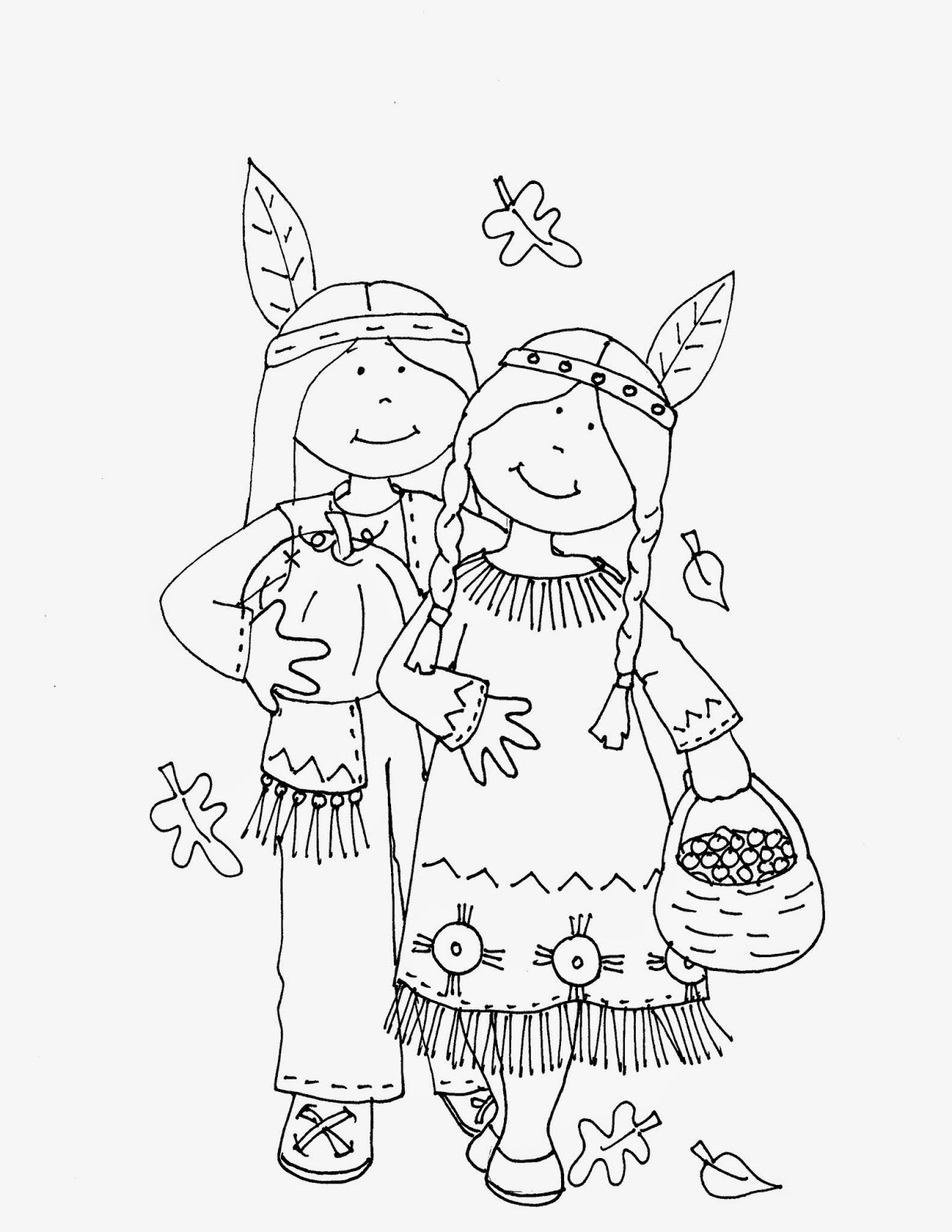 Free Dearie Dolls Digi Stamps Thanksgiving Indians