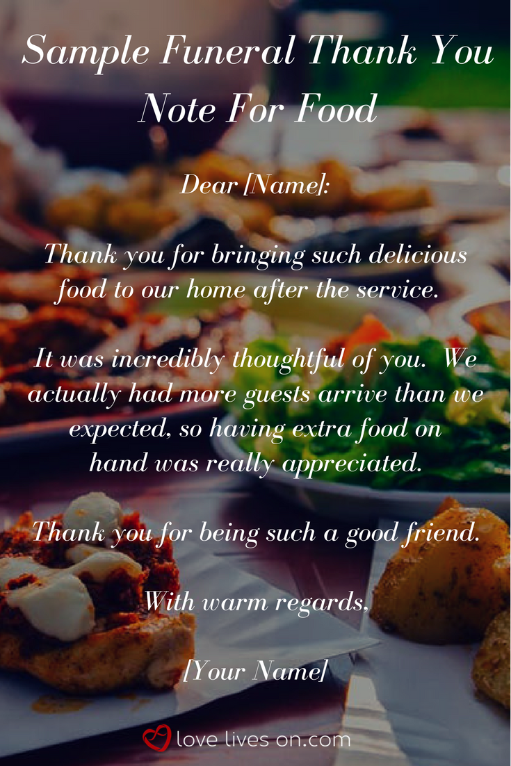 33 best funeral thank you cards pinterest funeral and note sample wording you can use for funeral thank you note for someone who dropped off food for you after a loved ones service izmirmasajfo