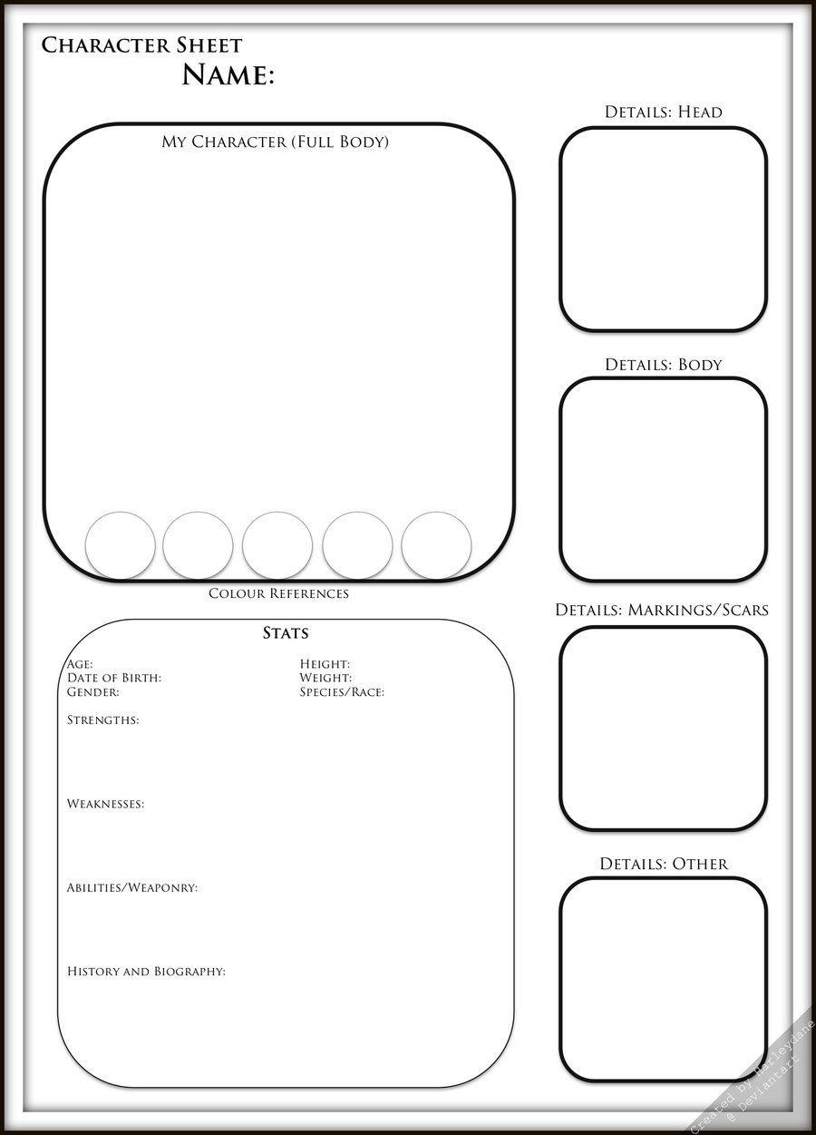 Character Template by Harleydane.deviantart.com on