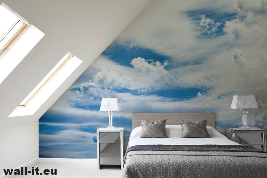 Fototapety Do Sypialni Blekitne Niebo I Chmury Idealna Za Zaglowek