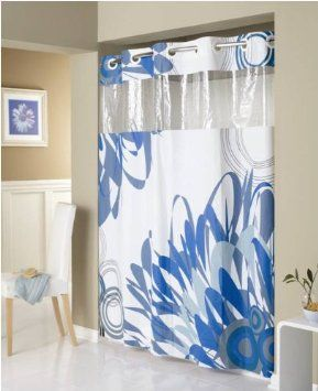 Amazon Com Hookless Graphic Floral Peva Shower Curtain Bedding
