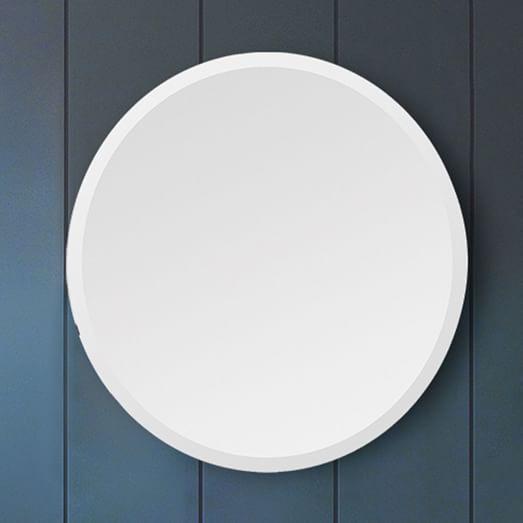 Frameless Round Wall Mirror West Elm Johnson Addition