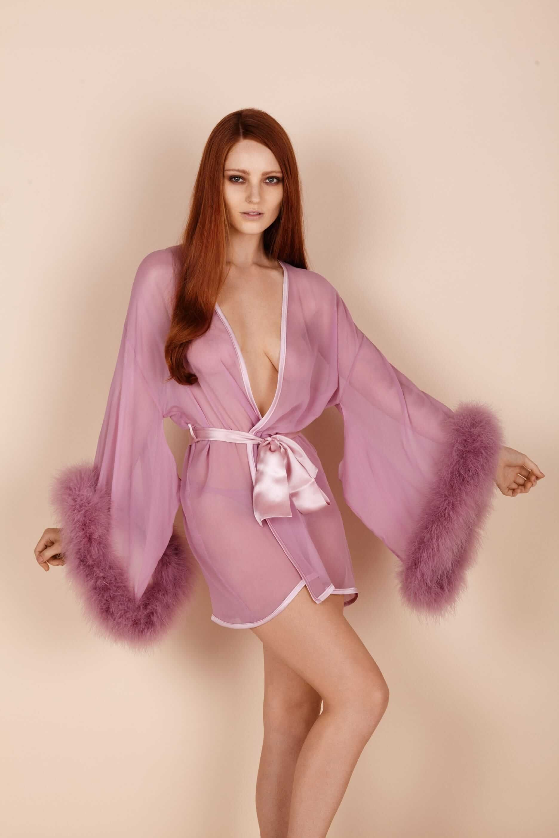 b09211016613 Gilda   Pearl Robe ---- Date Night Lingerie for Hot Older Women