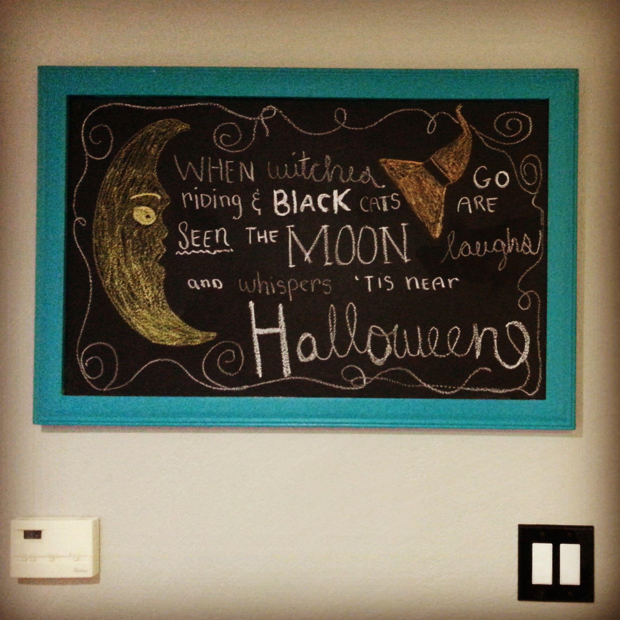 Halloween Chalk Board Idea Chalkboard, Cozy decor