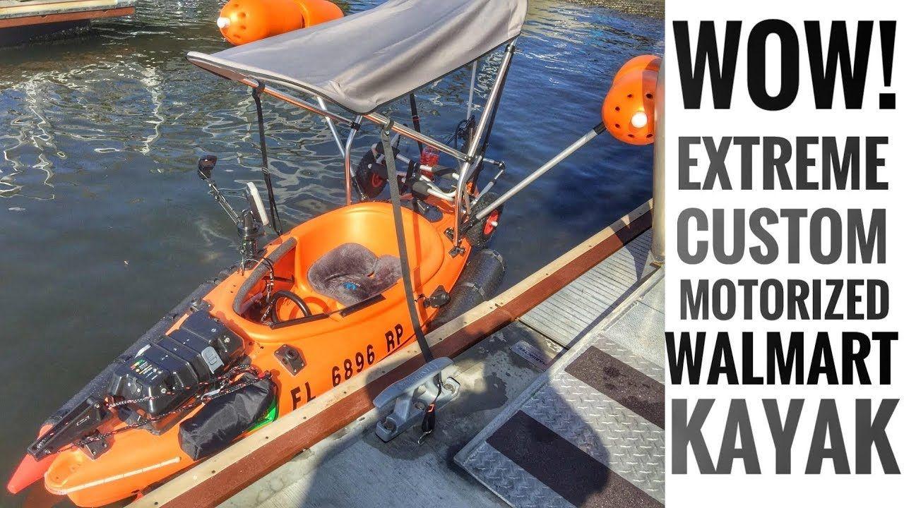 Kayak Go-Kart: Motorized Walmart Kayak Build   Motorized