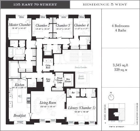 135east79thfloorplan6jpg (588×550) Planos manciones Pinterest - Apartment House Plans
