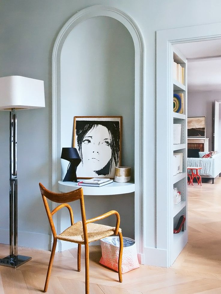 A tiny home office nook by Flora de Gastines and Anne Geistdoerfer