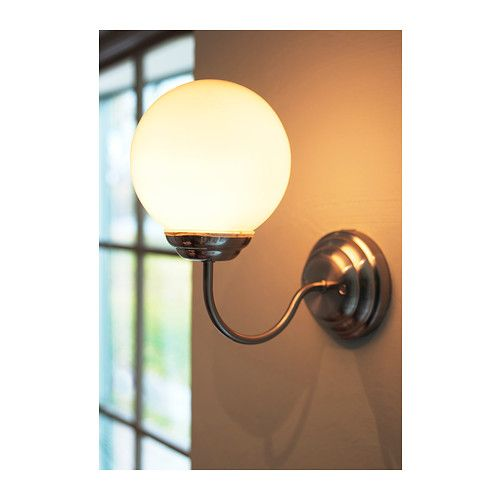Lillholmen Wall Lamp Nickel Plated White Vintage Home