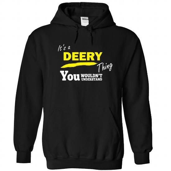 DEERY-the-awesome - #lace tee #hooded sweatshirt. ORDER NOW => https://www.sunfrog.com/Holidays/DEERY-the-awesome-Black-58125953-Hoodie.html?68278