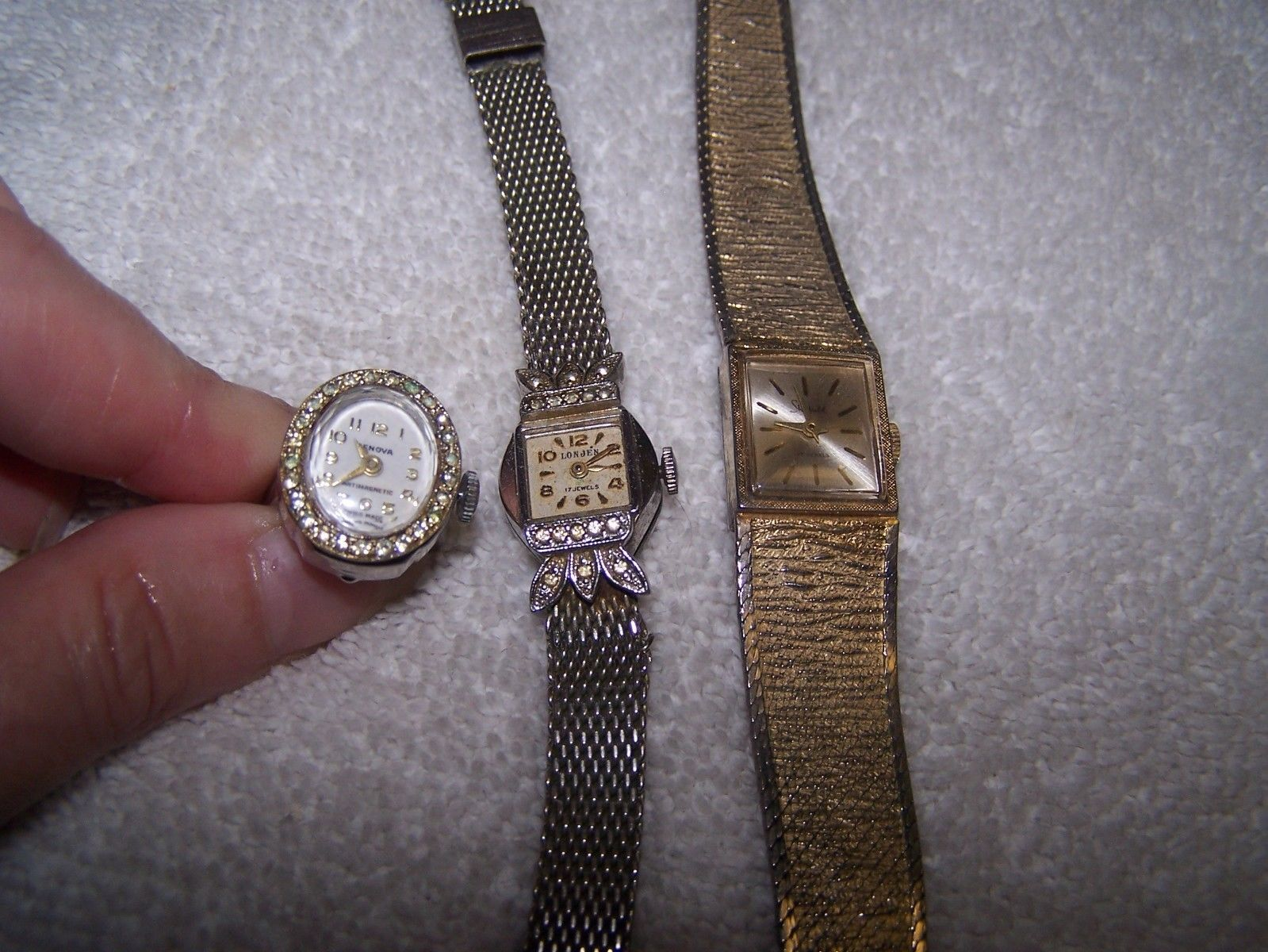 3 Vintage Watches Geneva Ring Watch 2 Wrist Watches-Sheffield ...