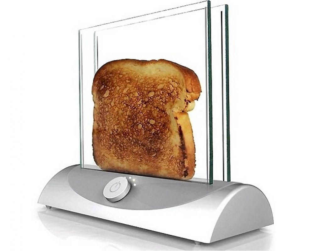 Grille Pain Design Breakroom Miracle This See Through Toaster Will Give You Perfect