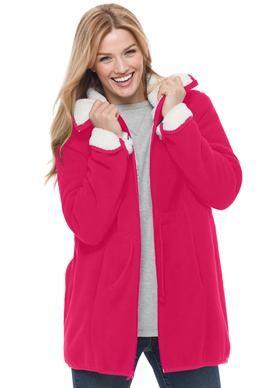 4a097c27c8d52 Coat in softest bonded fleece