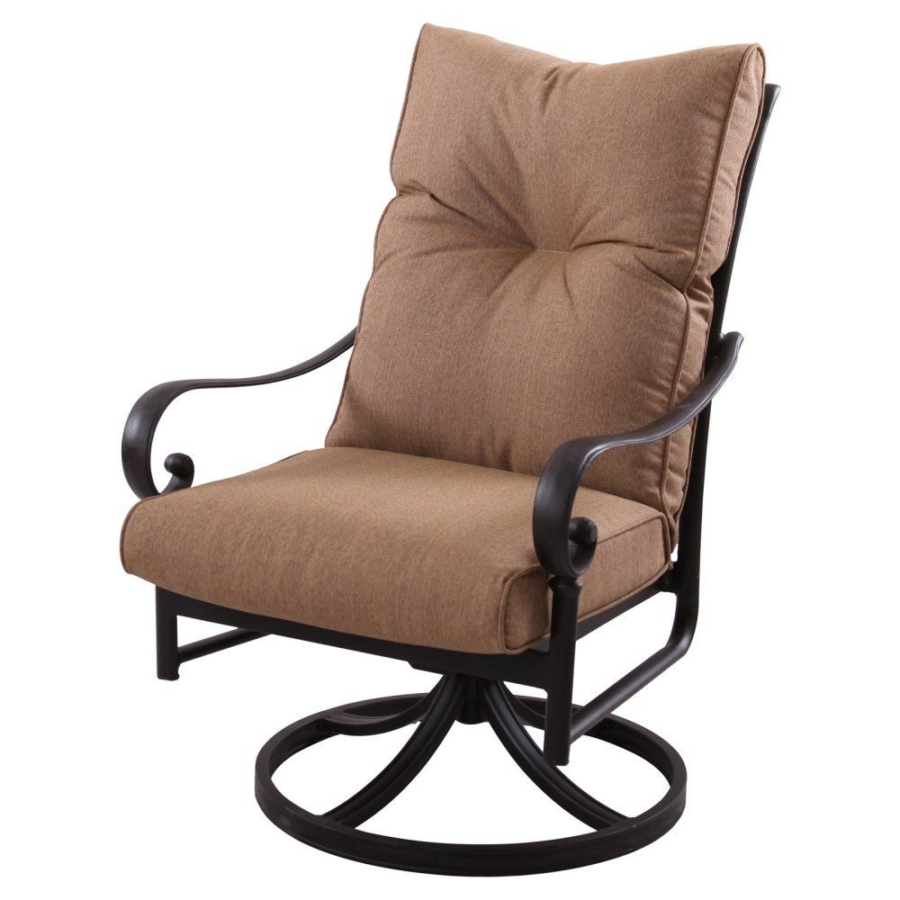 Darlee Santa Anita Patio Swivel Chair in Antique Bronze (Set of 2 ...