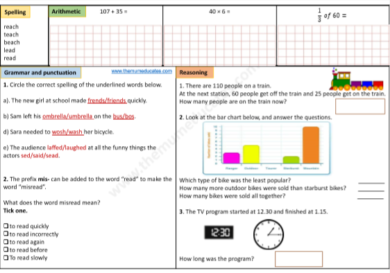 One Worksheet A Day For Year 3 Children Http Themumeducates Com Resources Year 3 Grammar And Punctuation Year 3 Maths Worksheets Worksheets Free