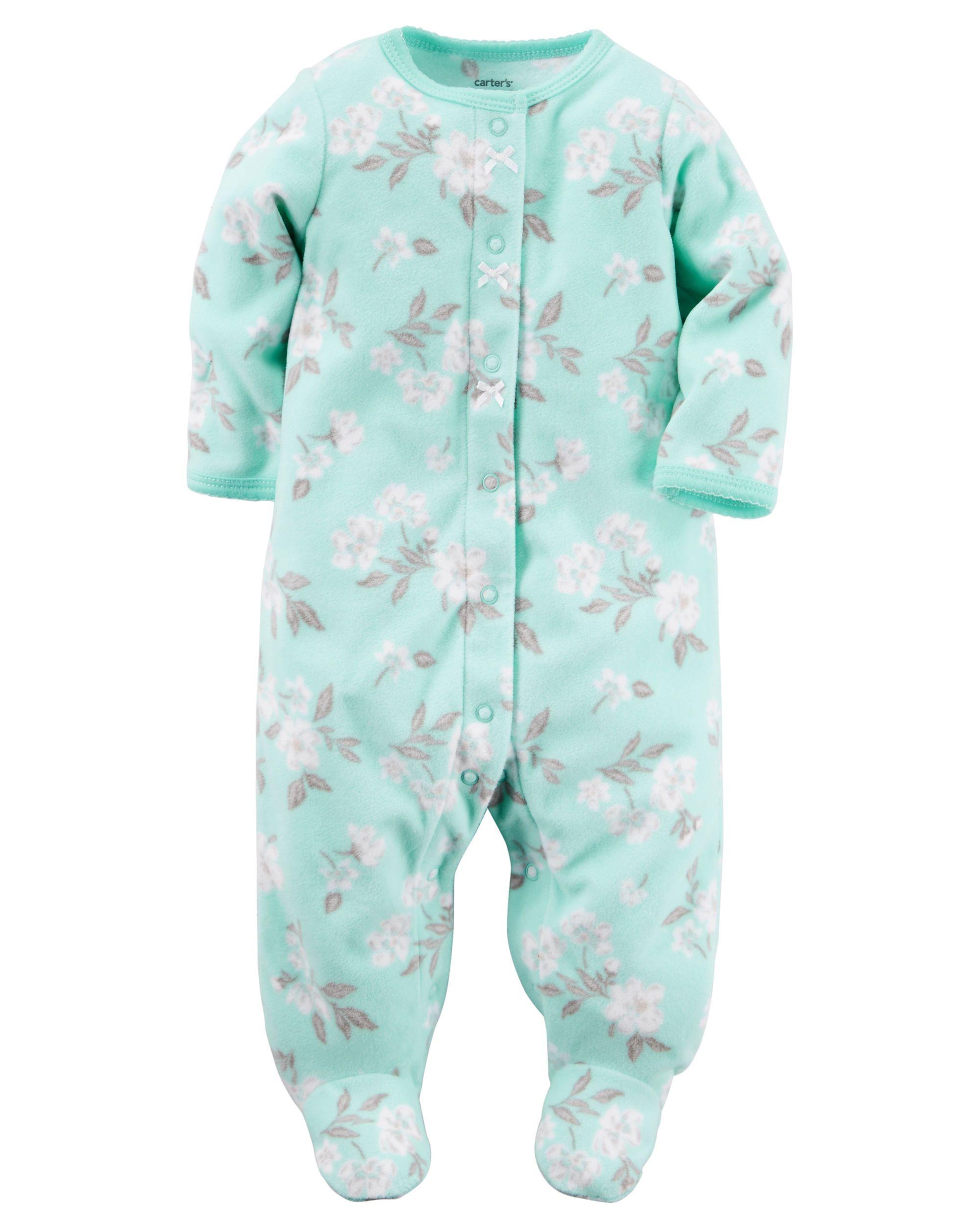 24ee989a1 Baby Girl Fleece Snap-Up Sleep   Play from Carters.com. Shop ...
