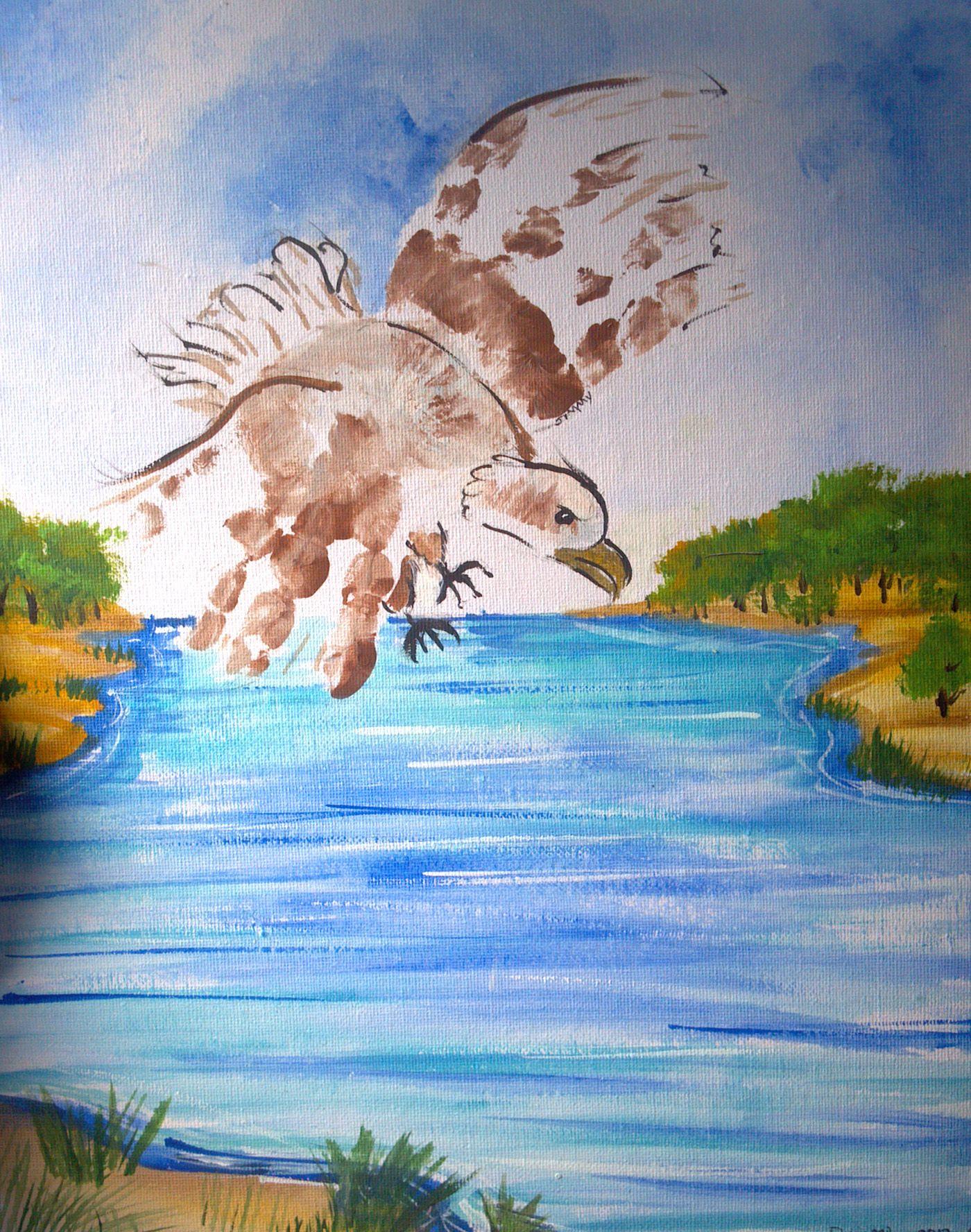 custom hand print or foot print art artwork painting keepsake