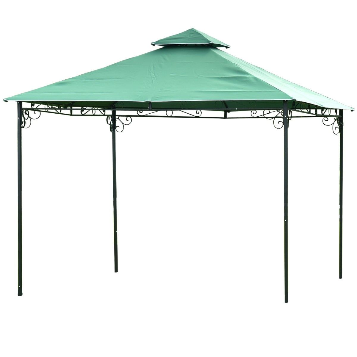 2 Tier 10 X 10 Patio Wedding Party Gazebo 81 95 Free Shipping Material Steel Polyester Fabric Color As The Pictures S Patio Wedding Party Gazebo Gazebo