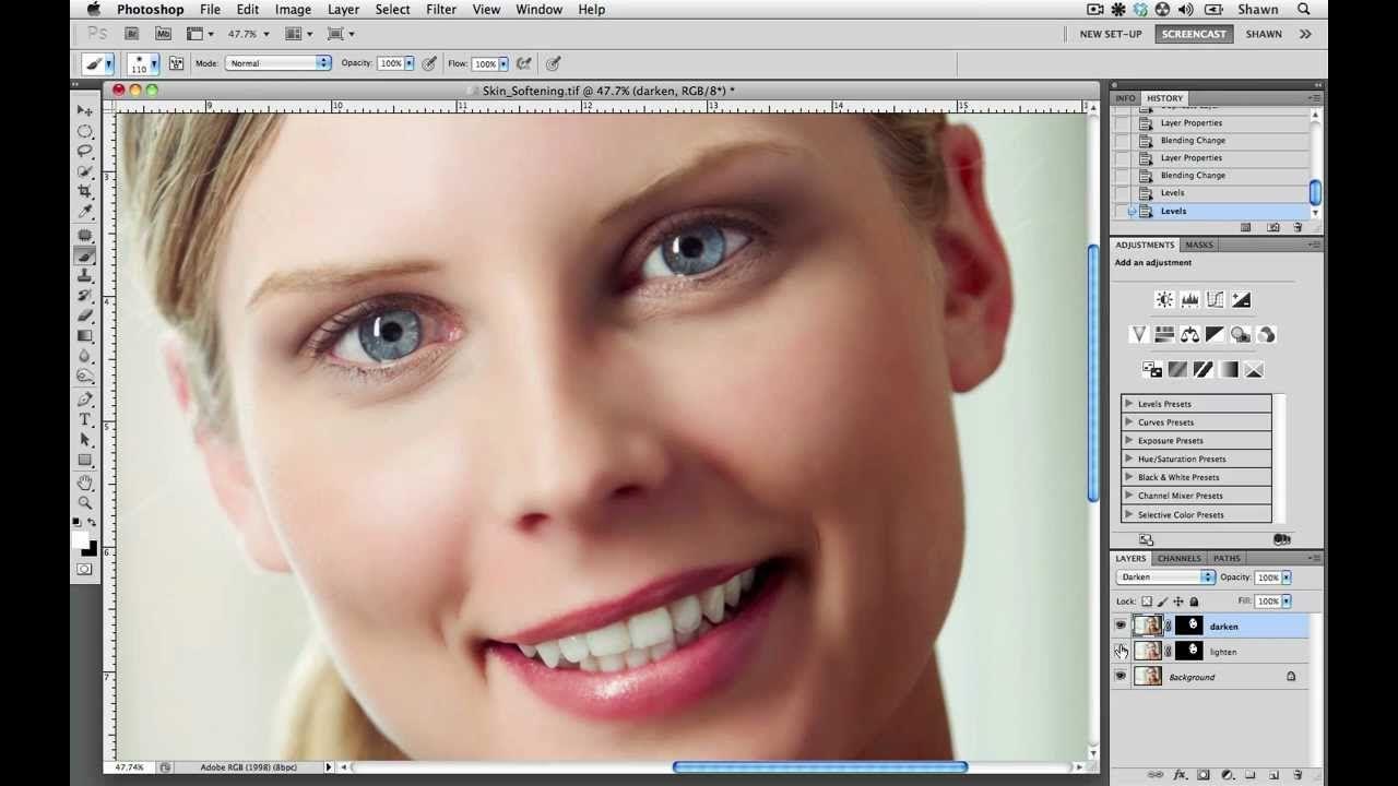 Contributor tutorials how to soften skin using