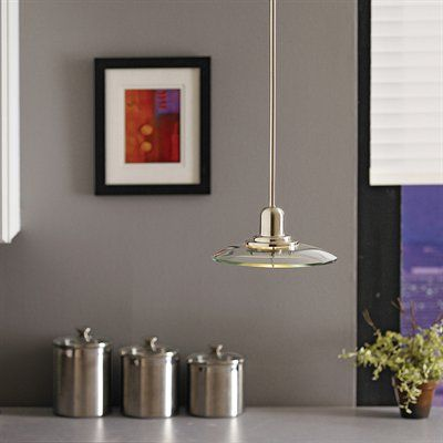 Allen + Roth Galileo 10 In W Brushed Nickel Mini Pendant Light With Clear  Glass