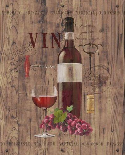 Anastasia-Ricci-Red-Wine-on-Reclaimed-Wood-Fertig-Bild-40x50-Wandbild-Kueche-Wein
