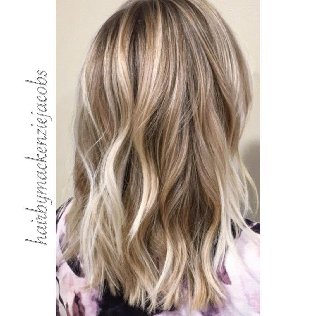 Ash Blonde Highlights Lived In Color On Light Brown Hair Mid Length Brown Hair With Blonde Highlights Brown Blonde Hair Light Hair Color
