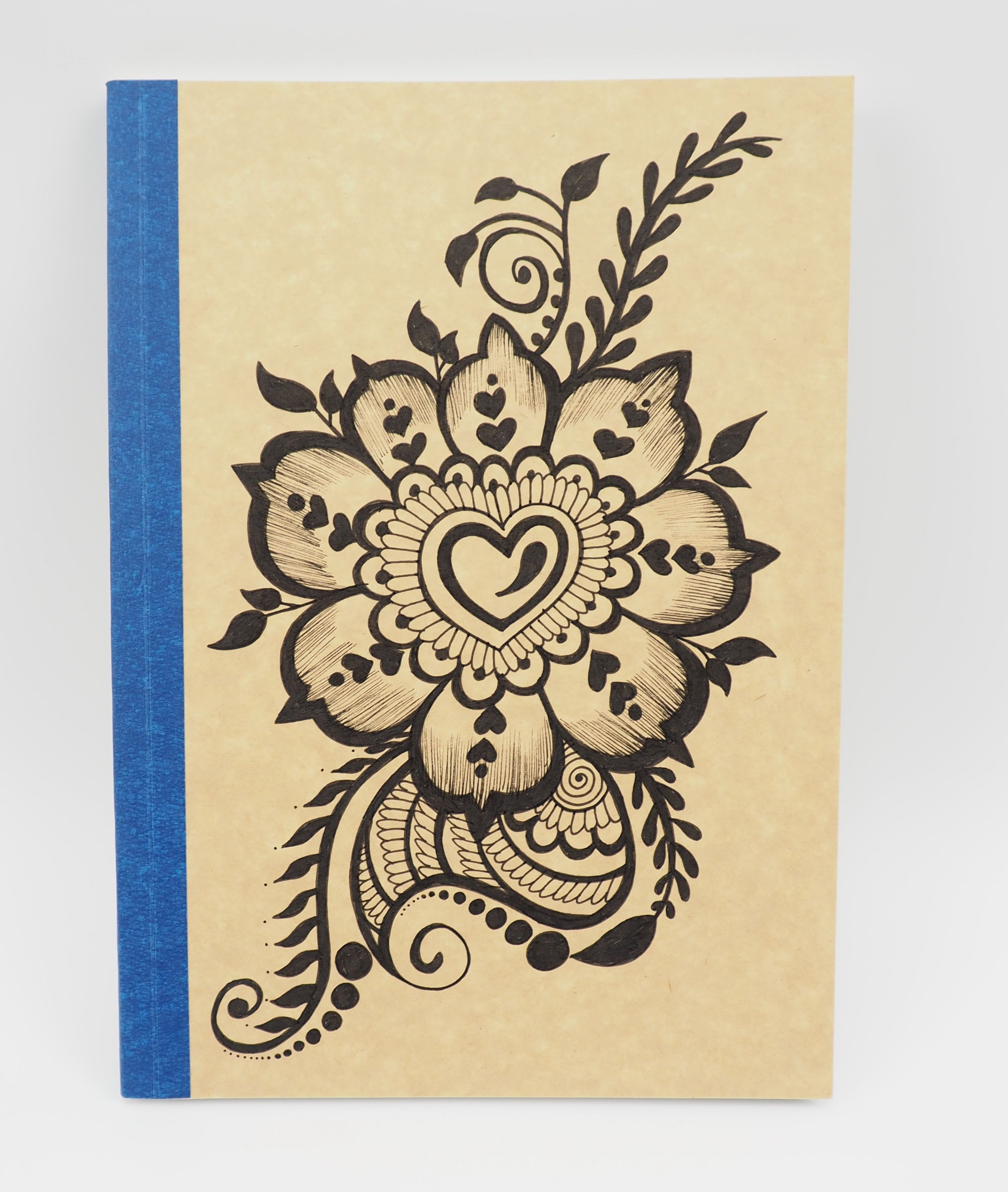 Our Artists Applied Henna Tattoo Drawing On Recycle Paper And