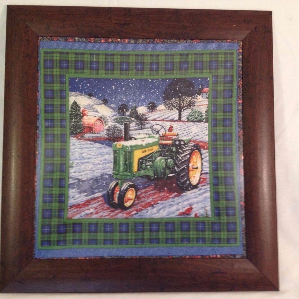John Deere Framed Quilt Art 23