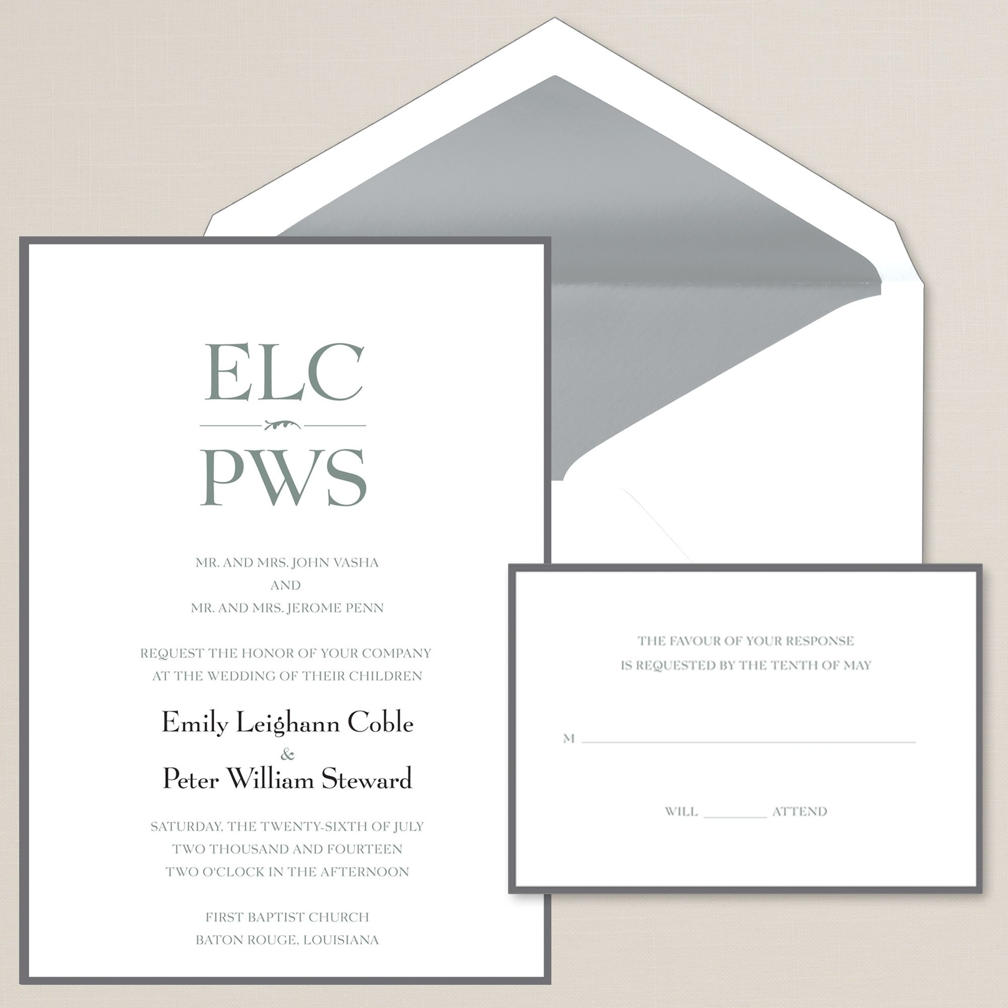 Sincerely Yours Wedding Invitation | #exclusivelyweddings | Cards ...