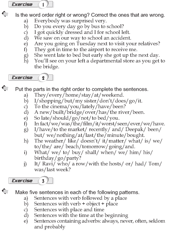 Grade 9 Grammar Lesson 2 Word Order 2 Verb Object Place And