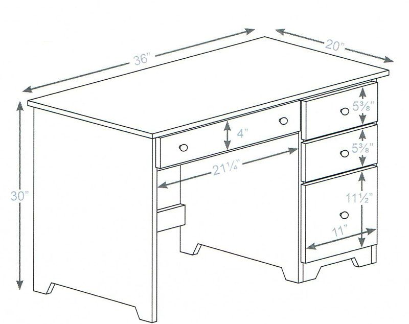 3 drawer dimensionsjpg 800x634 memorandum set design for Office desk sizes